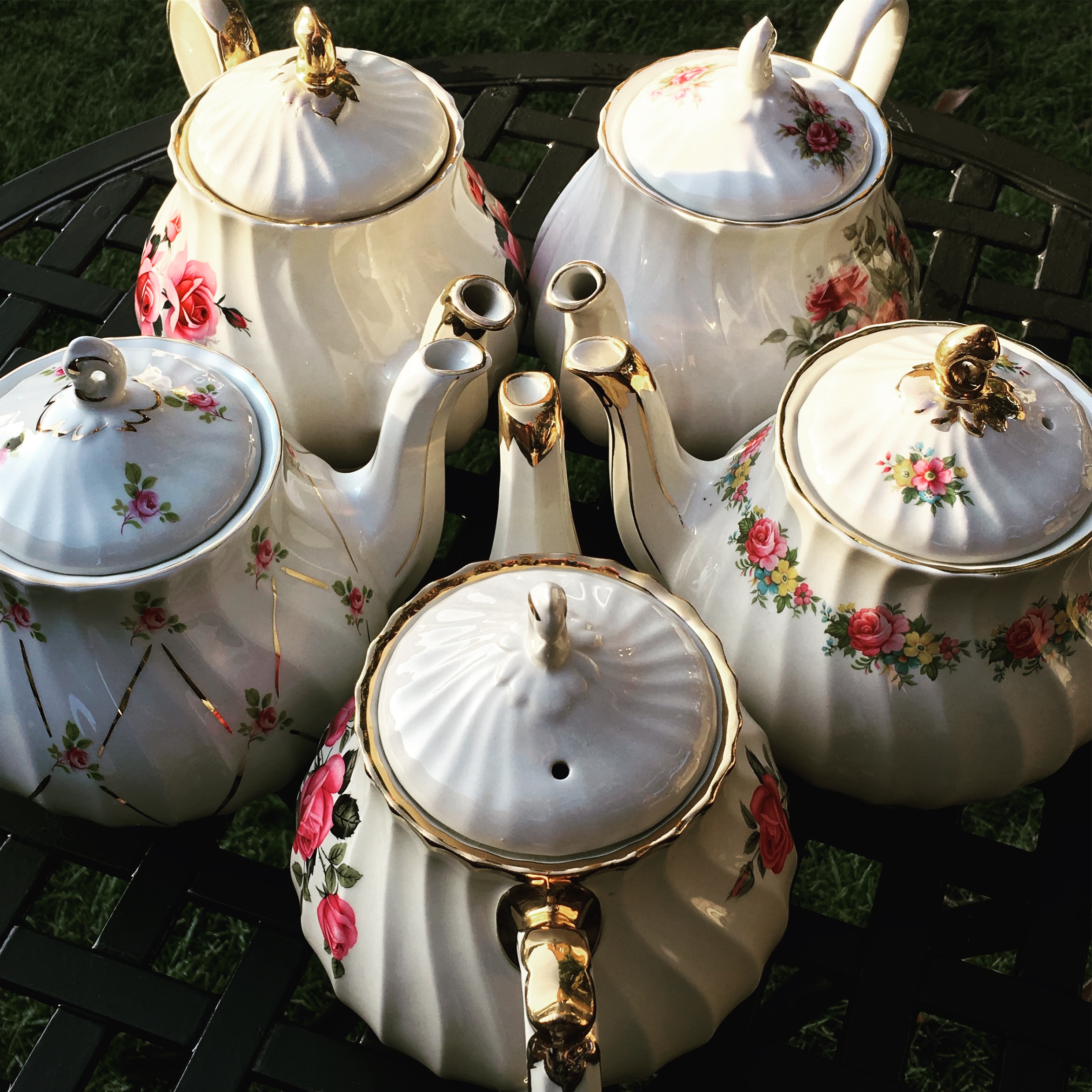 Vintage Teapots - For hire Brentwood Essex