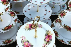 Vintage Cake Stands for hire - Brentwood Essex